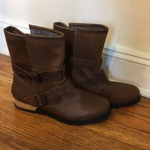 Sorel Major Moto Buckled Boot Brown
